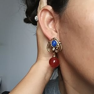 Vintage chunky dangle earrings